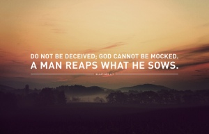 Man sows